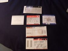 6 assorted glasgow rangers tickets