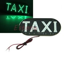 Car Auto Vehicles Taxi Windscreen Cab Sign LED Green Light Lamp 12V