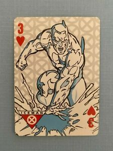 Marvel Xavier Institute for Higher Learning Card Iceman Three (3) of Hearts