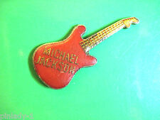 MICHAEL JACKSON guitar - hat pin , tie tac , hatpin , lapel pin (red) GIFT BOXED