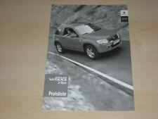 46105) Suzuki Grand Vitara Preise & Extras Prospekt 01/2007