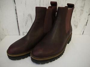 Damen Schuhe Timberland London Square Chelsea Boots Borgunder Gr. 38,5 Neu