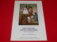 COLL.J. LE BOURHIS AFFICHES Divers / MUSEE DU NOUVEAU MONDE LA ROCHELLE 1984
