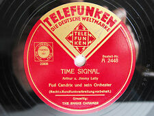 78rpm FUD CANDRIX - TIME SIGNAL / THE SNAKE CHARMER - TELEFUNKEN