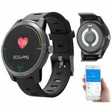 Fitness-Uhr mit Bluetooth, Herzfrequenz- und EKG-Anzeige, App, IP67