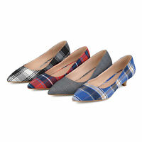 Brinley Co Womens Pointed Toe Fabric Kitten Heels New