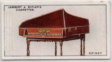 Spinet Wing Shaped Single String Set Harpsichord Music Instrument 1920s Ad Card
