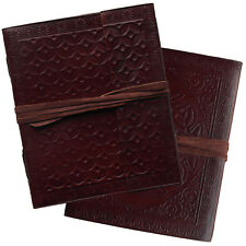 """2nd Quality 6"""" Real Leather Handmade Embossed Vintage Journal Sketchbook Diary"""