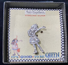 """Mary Engelbreit 925 Sterling Silver Pin """"Its Good To Be Queen� Brooch New In Box"""