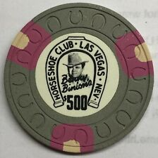 Binions Horseshoe $500 Obsolete horseshoemold casino chip