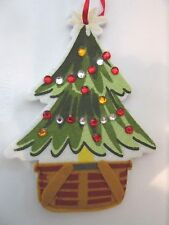 Longaberger ChristmasTree In Basket Holiday Gift Card or Money Ornament Holder