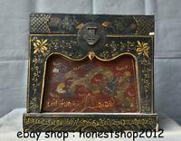 "15 ""China Holzlack Dragon Drawer Cabinet Schrank Schrank Sark Box"