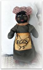 Very Primitive `Handmade ` Black Mommy Doll` With ` Hen**EGGS* Dress*Folk Art