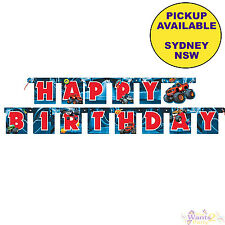 BLAZE AND MONSTER MACHINES PARTY SUPPLIES HAPPY BIRTHDAY BANNER DECORATIONS