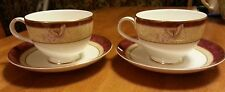 Royal Doulton Beautiful ROSEWOOD set of 2 Cups and 2 Saucers