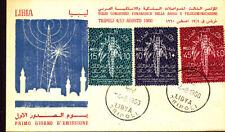 RADIO CONFERENCE TELECOM PALM TREES 1960 LIBYA FDC