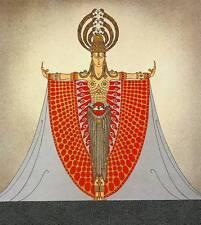 "Erte Art Deco Print ""Indochina"" Original Vintage Fashion Book Plate"