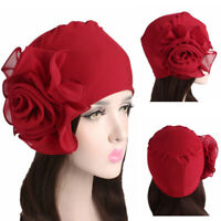 Turban King Flower Size Hat Hair Loss Wrap Muslim Hijab Elastic Chemo Cap