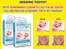 2x Temporary Tooth MISSING TOOTH REPLACEMENT REPAIR FALSE DIY dental wax