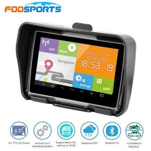 "Android Motorcycle GPS Navigator Navigation 4.3"" Touch Screen 8G SAT NAV + Maps"