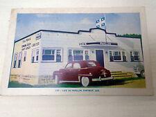 Automobiles Cafe Du Pavillon Portneuf Quebec Restaurant Lobster Vintage Postcard