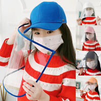Baseball Cap Hat Anti-Saliva Cap Anti Fog Dust Hat with Protection Cover for Kid