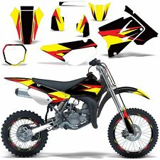Graphic Kit Suzuki RM85 RM 85 Dirt Bike Decal with Backgrounds Moto 2002-2015 RS
