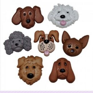 Puppy Parade Buttons puppy shaped buttons Fuzzy Felines Cat Shaped Buttons