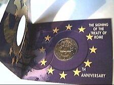Coin card 2 euro 2007 trattati Roma rome Irlanda Irlande Ireland Eire Irland