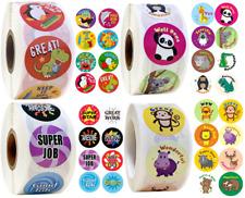 Reward Stickers Labels Kids Children Animals Teachers School Praise Nursery 25mm