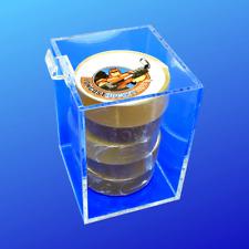 "Acrylic Slatwall Bin, Square Bins for Slatwall, 4"" x 4"" x 4"" Made In Usa"