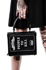 KillStar Kill List Book Handbag Purse NEW Black Goth Vegan People to Kill Punk