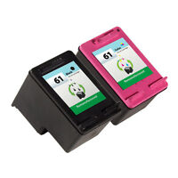2 Pack HP 61 Ink Cartridge - Deskjet 3050A Deskjet 3054 Inkjet Printer