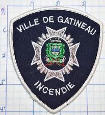 CANADA, VILLE DE GATINEAU FIRE INCENDIE QUEBEC WHITE EDGE PATCH