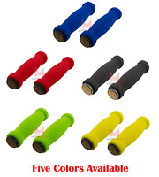 Bicycle Short Foam Grips W/ Reflectors Soft Beach Cruiser Lowrider MTB BMX Bike
