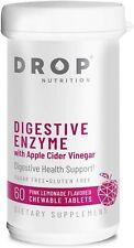 DROP NUTRITION Digestive Enzyme w/ Apple Cider Vinegar ACV - 60 Tablets - 08/21