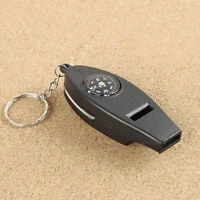 4 in 1 Whistle Compass Magnifier Thermometer Outdoor Emergency Survival Kits Top