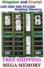 QUALITY 1GB DDR PC3200 Desktop Memory LOW DENSITY testd