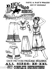 Buckaroo Bobbins Ladies' Frillies Camisole, Petticoat, Pantaloons Sewing Pattern