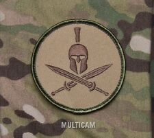 SPARTAN MULTICAM TACTICAL COMBAT BLACK OPS BADGE MORALE MILITARY PATCH
