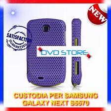 Custodia + Pellicola MESH PURPLE per Samsung Galaxy Next S5570 (B4)