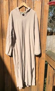 Deva Lifewear Morocco Hooded Robe Caftan Loungewear Sz 2XL Vintage 100% Cotton
