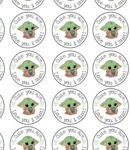 Baby Yoda Cake Toppers Yoda Wafer Toppers I Love You Valentines Day Wafer