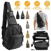 Men Outdoor Shoulder Tactical Backpack Sling Chest Bag Travel Camping Hiking Bag
