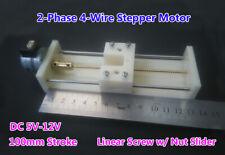 Control deslizante de Tornillo lineal 90mm motor gradual 5V 2 fases 4 hilos actuador de la Varilla de Empuje Tire