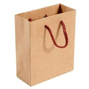 Luxury Recycled Paper Gift Bag Carrier Mulberry Rope Small Red #BargainTrend