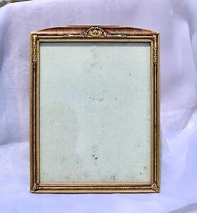 Antique Gilt Wood Cabinet Picture Frame Art Deco Arts & Crafts 8x10