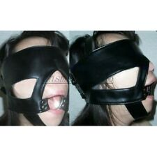 New Slave Harness Mouth Gag Restraint Eye mask blinder blindfold 4cm O Ring