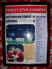 Nottingham Forest 4 Arsenal 2 - 2018 FA Cup - framed print