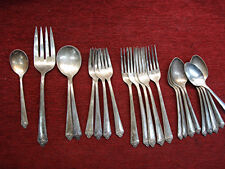 """VINTAGE ROGERS & BROS. - """"STARLIGHT"""" PATTERN SILVER PLATED FLATWARE - 21 PC. LOT"""